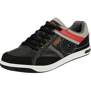 Sparx Black Grey Mens Synthetic Sneakers