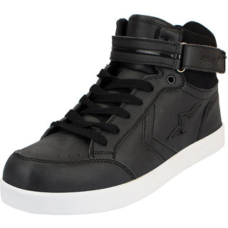 Sparx Black Mens Synthetic Ankle Sneakers