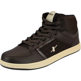 Sparx Brown Mens Synthetic Ankle Sneakers