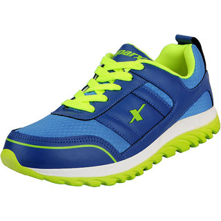 Sparx Blue Green Men's Sports Running Shoes