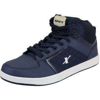 Sparx Navy Mens Synthetic Ankle Sneakers