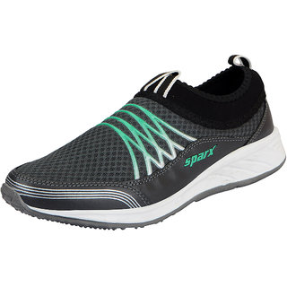 Sparx Grey Green Mens Sports Running Shoes