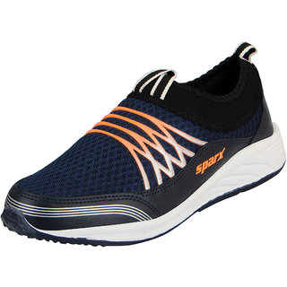 Sparx Navy Orange Men's Sports Running Shoes