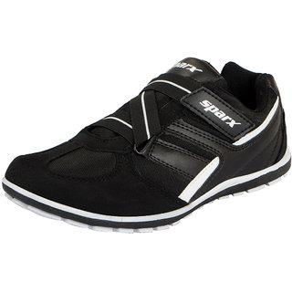 Sparx Black White Mens Sports Running Shoes