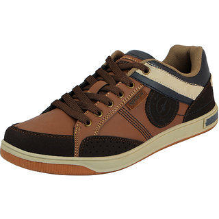 Sparx Tan Brown Mens Synthetic Sneakers