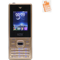 MTR BOSS DUAL SIM MOBILE PHONE GOLD WITH 100 DAYS REPLA