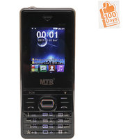 MTR BOSS DUAL SIM MOBILE PHONE BLACK WITH 100 DAYS REPL