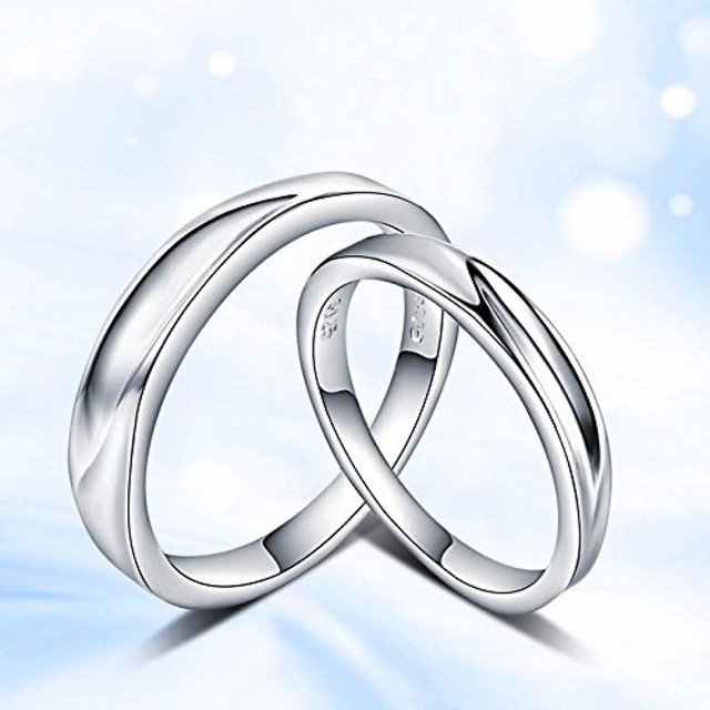 3931110ad2d Alluring Sterling Silver Engagement Adjustable Couple Rings With Free Box  By Stylish Teens