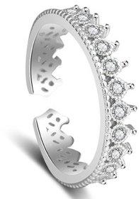 Transcendent Tiara  Adjustable Ring with Ring Box