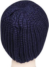 Bonjour Unisex Designer Woolen Knitted Black  Cap