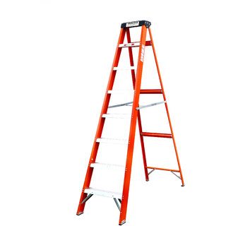 Youngman 8 step electric shock proof frp ladder with upper tool tray
