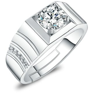 Exclusive Limited Edition Sterling Silver  Solitaire Adjustable Rings For Men  Boys