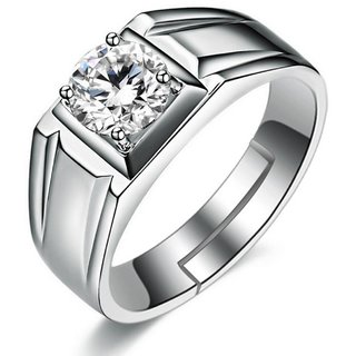 Exclusive Limited Edition Sterling Silver  Solitaire Adjustable Rings For Men & Boys