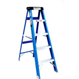 Youngman 6 step electric shock proof frp ladder with upper tool tray