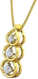Diamond Pendant 0.14 CT / 1.41 gm Gold-JPT1823