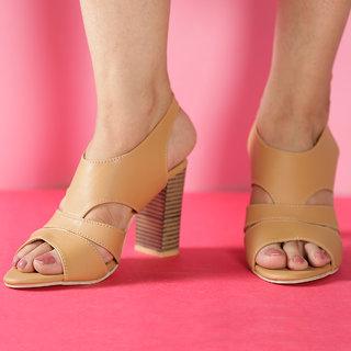 MSC Women's Beige Heels