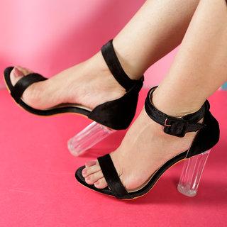 MSC Women Black Synthetic Heels