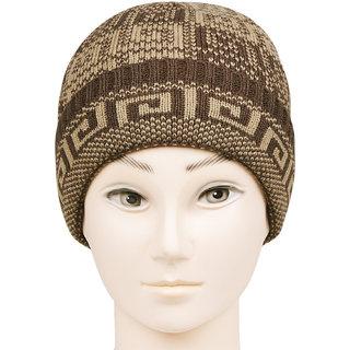 Bonjour Unisex Designer Woolen Knitted Multicolor Cap