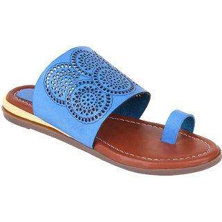 Glitzy Galz Women's Blue Flats