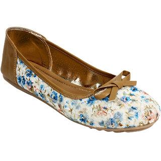 Glitzy Galz Women's brown Flats