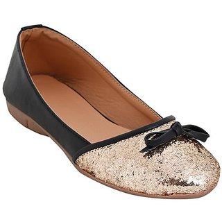 Glitzy Galz Women's black Flats