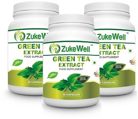 Zukewell Green Tea Extract 500 Mg (60 Polyphenols) Fat