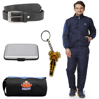 Abloom Track suit Gym Bag Belt With Key chain combo