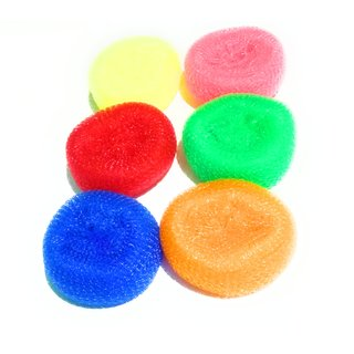 Scrub pad nylon (set of 6),use as vessel cleaning, all house cleaning, daily use, good nylon used this pads, colour very