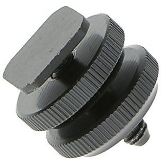 Generic Pro 1/4 Mount Adapter for Tripod Screw to Flash Hotshoe