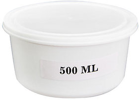 Marketvariations White Disposable Plastic Container 500 ml (Pack of 100)