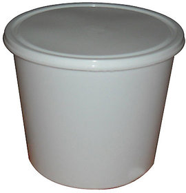 Marketvariations White Disposable Plastic Container 1000 ml (Pack of 100)
