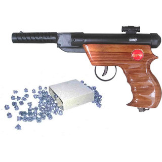 New pinch Bond wooden target Air gun toy