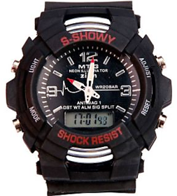 M K Retail G Shock Black Dial Big Digital Watch For Boy