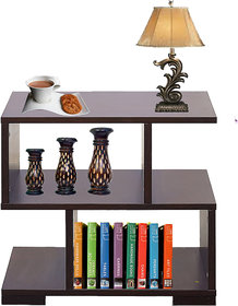AAROORA Multipurpose, Bedside Table With Storage Cabinet In Wenge Finish