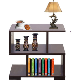 AAROORA Multipurpose Bedside Table With Storage Cabinet In Wenge Finish