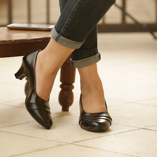 Naisha Women's Black Formals Shoes