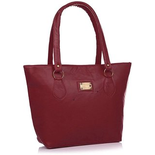 Clementine Premium PU Leather Women's Handbag (Maroon Color sskclem218)