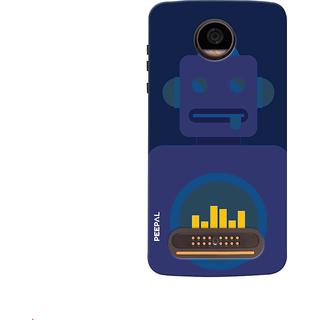 PEEPAL Motorola Moto Z2 Play Designer & Printed Case Cover 3D Printing Robot Music Design