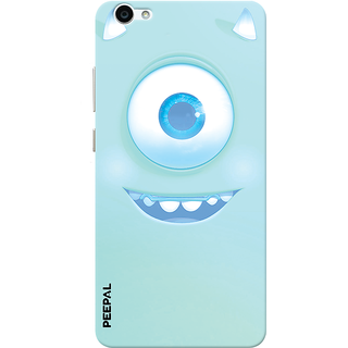 PEEPAL Vivo V5 Designer & Printed Case Cover 3D Printing Happy Eye Design