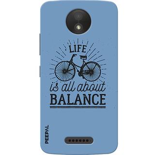 PEEPAL Motorola Moto C Plus Designer & Printed Case Cover 3D Printing Balance Design