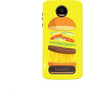 PEEPAL Motorola Moto Z2 Play Designer & Printed Case Cover 3D Printing Food Love Design