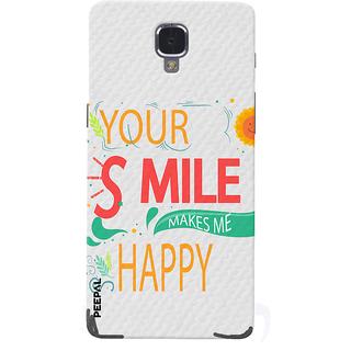 PEEPAL OnePlus 3-3T Designer & Printed Case Cover 3D Printing Smile Makes Me Happy Design