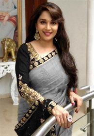 kuldevi fashion grey designer poly silk saree with blouse