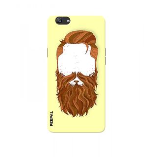PEEPAL Oppo F3 Plus Designer & Printed Case Cover 3D Printing Beard Design