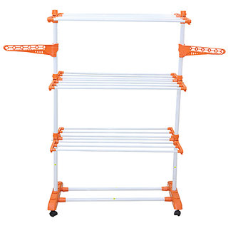 BRANCO Heavy Cloth Dryer Stand 1Poll - 3 Layer - Prince Jumbo (Genuine) (7 Year Warranty Made in India)