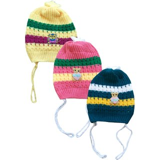 Jisha fashion Woolen Cap for boys and girls pack of 3