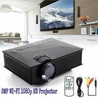 SMP1080p HD LED Wifi Projector 1200LM Airplay Miracast