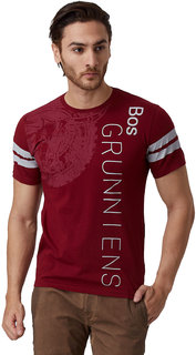 YAK YAK MEN'S RUMBA RED ROUND NECK T-SHIRT
