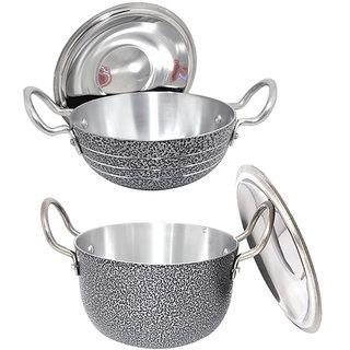 Cookware Set (kadhai 1litter , kunda tope1.5litter)