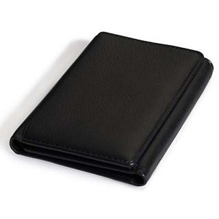 Angel Trifold wallet for men Black/Brown (Synthetic leather/Rexine)